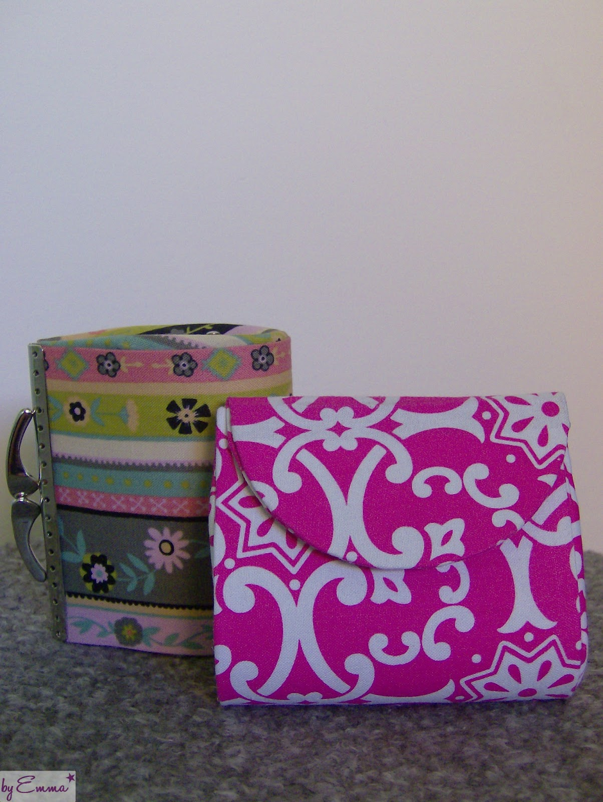 monederos de carton y tela