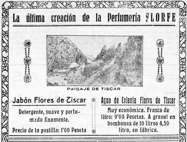 """Jabón y colonia """"Flores de Tíscar"""""""
