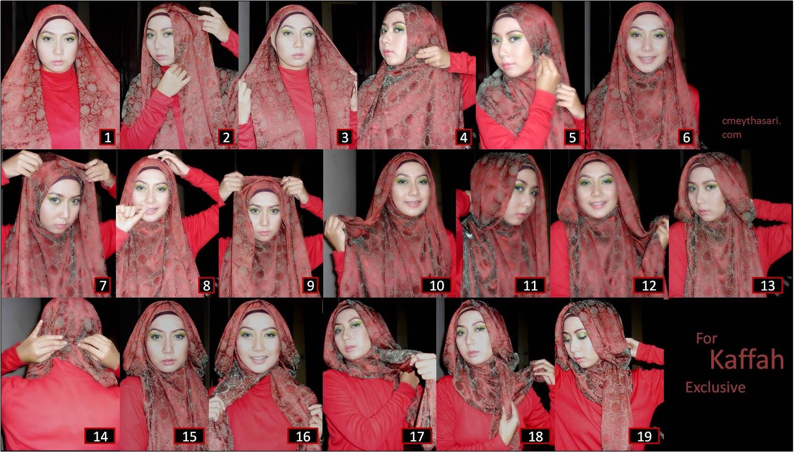 Tutorial Memakai Hijab Agustus 2013