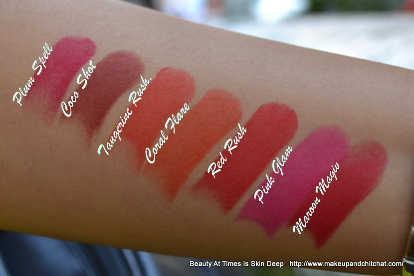 Lakme Absolute Sculpt Studio Hi-definition Matte lipstick Swatches