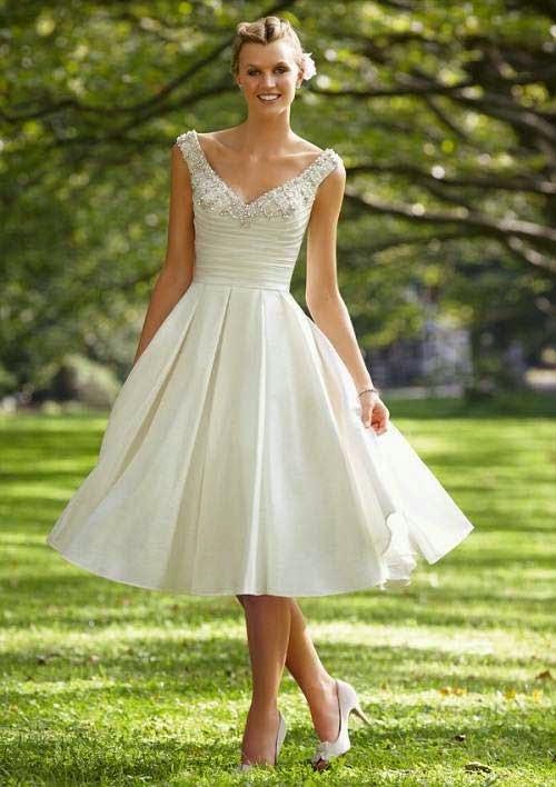 Popular Knee Length Wedding Dresses 2013 Photos HD Concepts Ideas