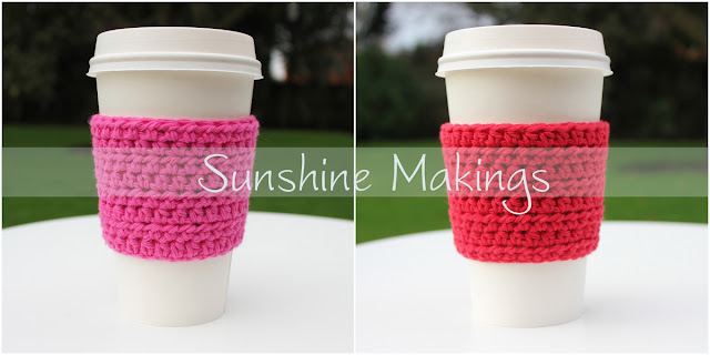 Crochet Coffee Cup Sleeves : Sunshine Makings