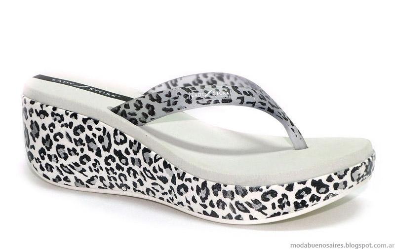 Ojotas Lady Stork verano 2015. Moda calzado femenino verano 2015 urbano y tiempo libre.