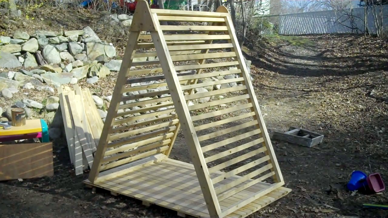 Another Project My Micro Scrap Wood A Frame Garden Trellis Deck House