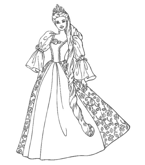 princess gown coloring pages - photo#23