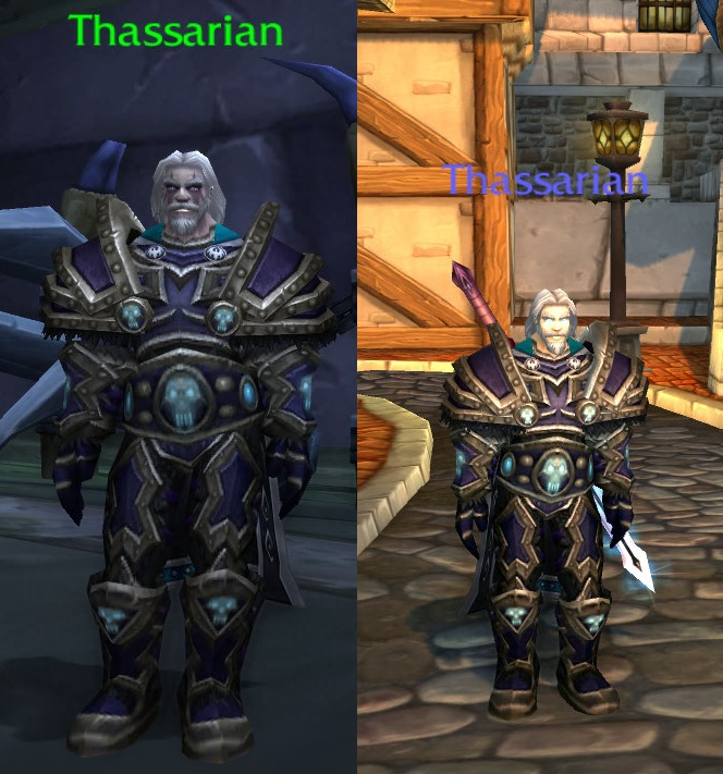 Thassarian (NPC) as seen in Acherus u0026 Thassarian (Elune-US) in Stormwind (Click on any picture in this post to view a larger image.) & Swords Maces Leather u0026 Laces: Look like an NPC - Thassarian Transmog
