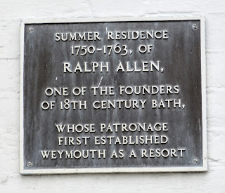Plaque outside 2 Trinity Road, Weymouth