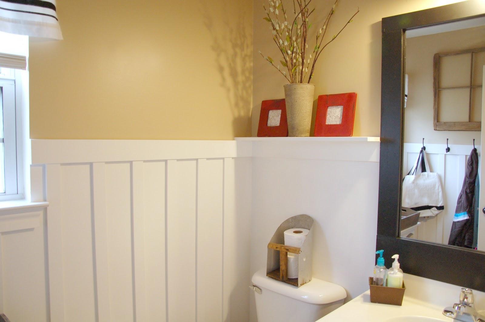 she 39 s crafty bathroom redo. Black Bedroom Furniture Sets. Home Design Ideas