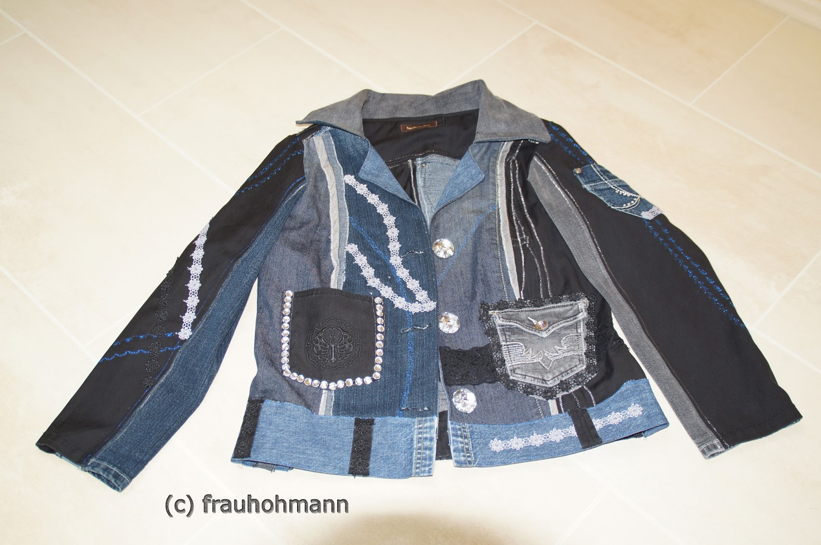 willkommen bei frauhohmann jeansjacke aus alten jeans. Black Bedroom Furniture Sets. Home Design Ideas