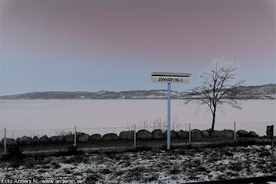 jönköping c, central, centralstation, järnvägsstation, järnväg, vättern, vinter, vinterkväll, kväll, kallt, kyla, foto anders n