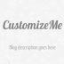 CustomizeMe Blogger Template (Helplogger Style)