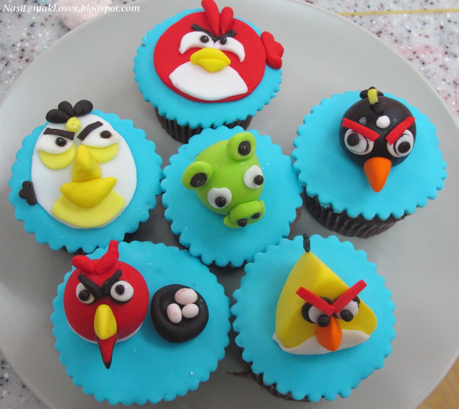 Angry Birds Cupcake