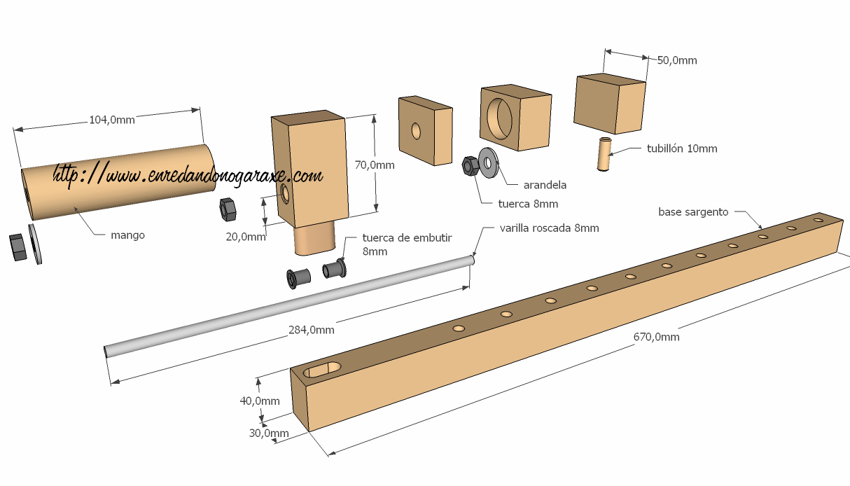 Pdf diy wood bar clamps plans free for Diy wood bar