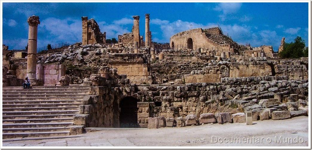 Templo de Zeus; Jerash; Jordânia; Temple of Zeus; Jordan