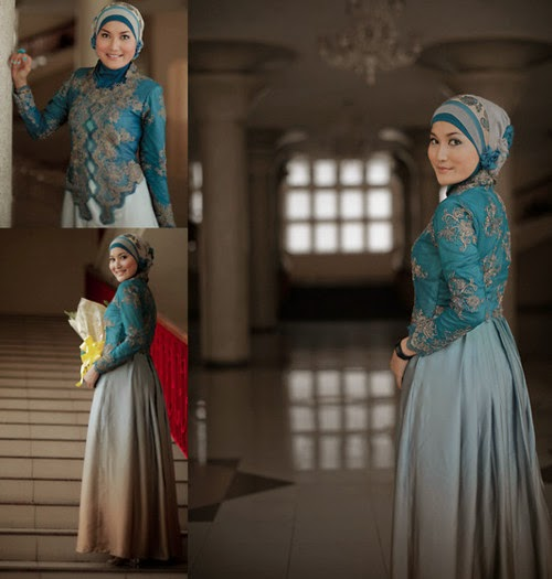 Model 3. Hijab Kebaya Modern Terbaru 2015