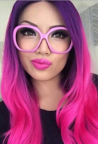 warna rambut ombre pink