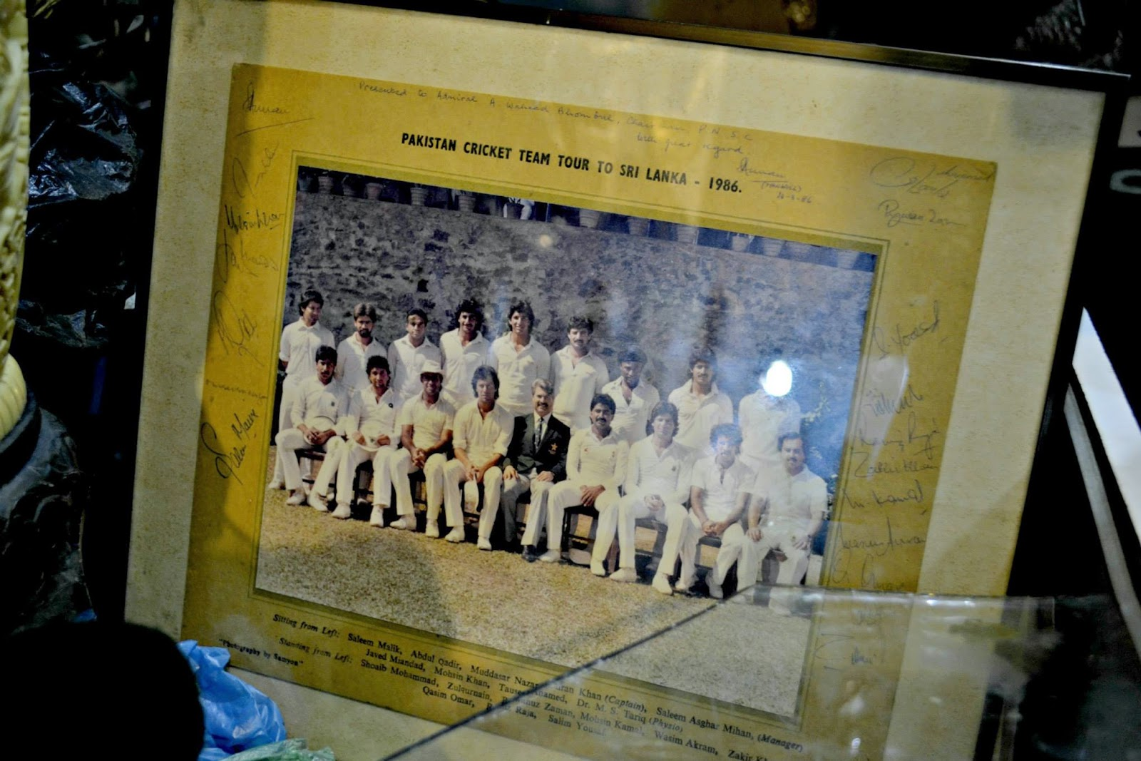 imran khan javed miandad cricket team photo