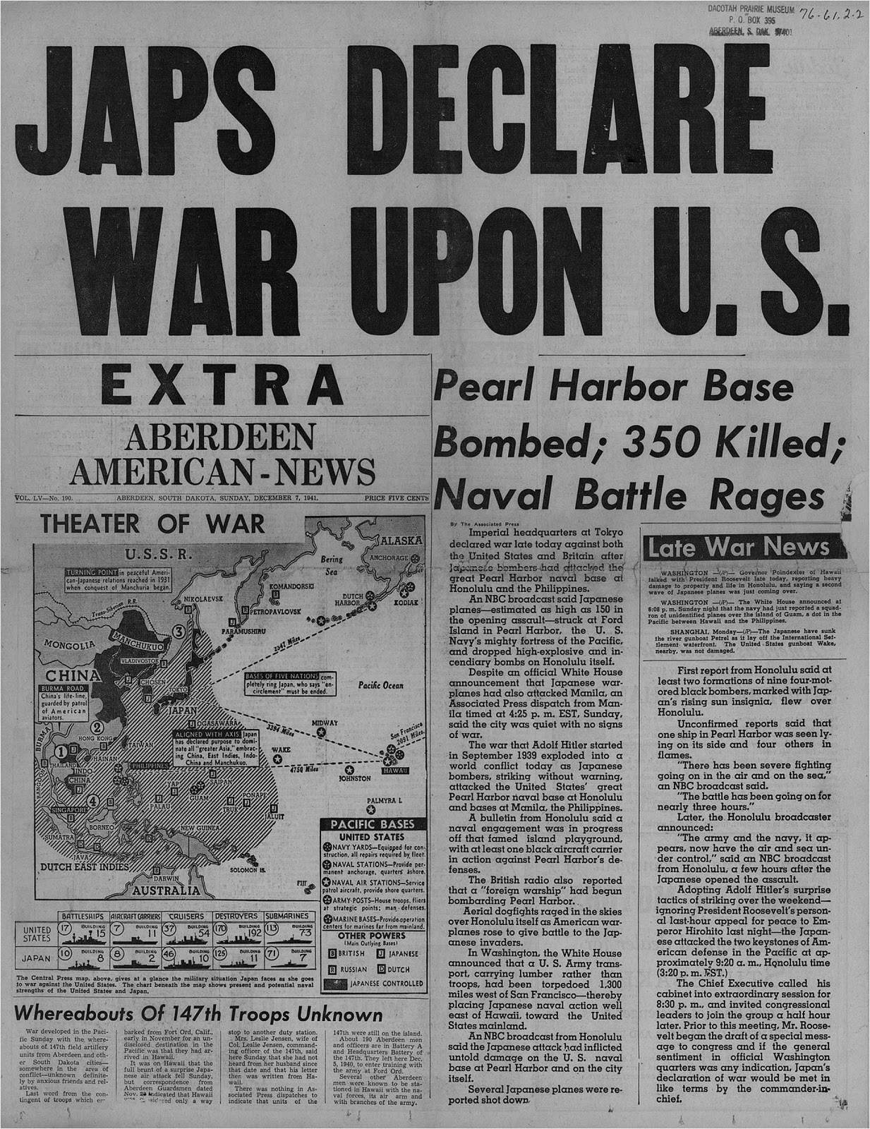 newspaper articles from pearl harbor