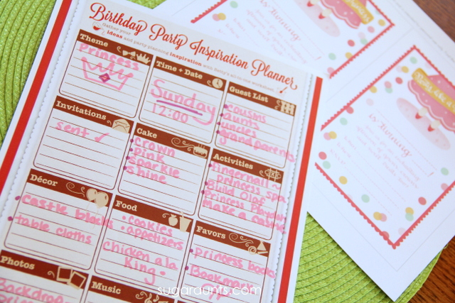 party planning ideas for princess party.