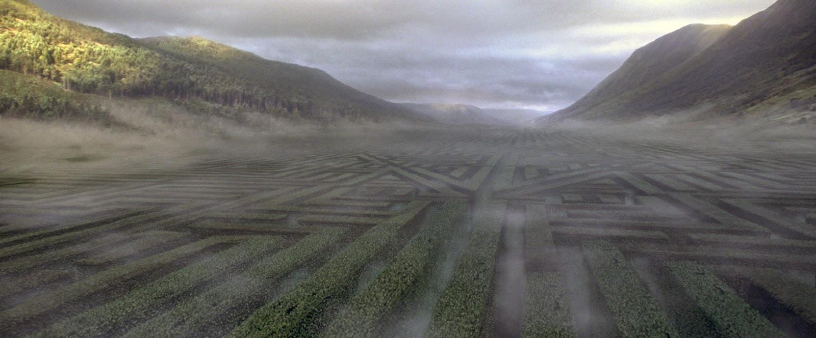 Le labyrinthe comme troisième épreuve des champions dans Harry Potter et la coupe de feu, de Mike Newell (2005)