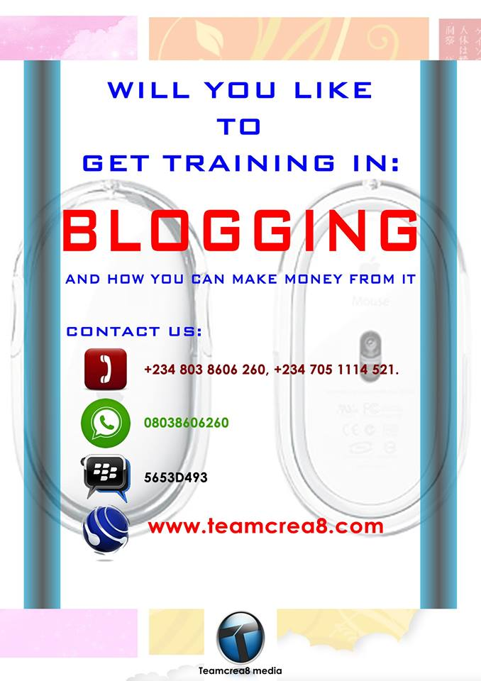 GET FREE BLOGGING TRAINING