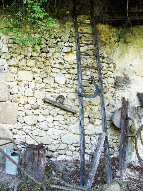 Tools at Troglodyte farm, France