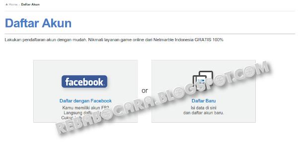 cara daftar elsword dengan facebook fb