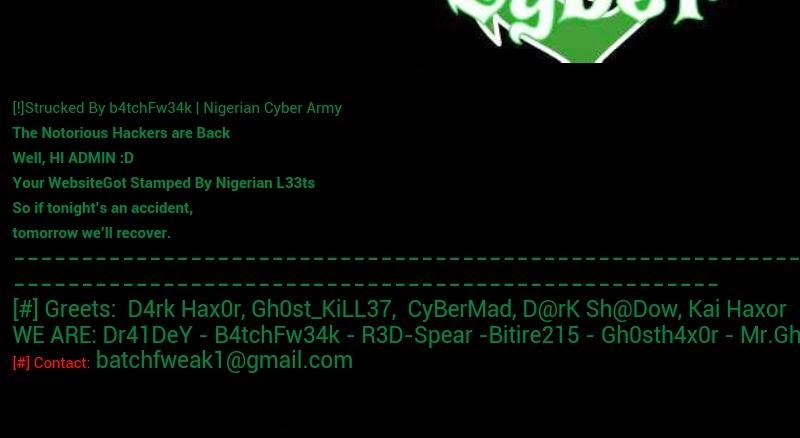 Unilag website hacked celebrity