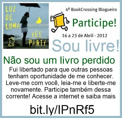 Etiqueta/bilhete BookCrossing Blogueiro