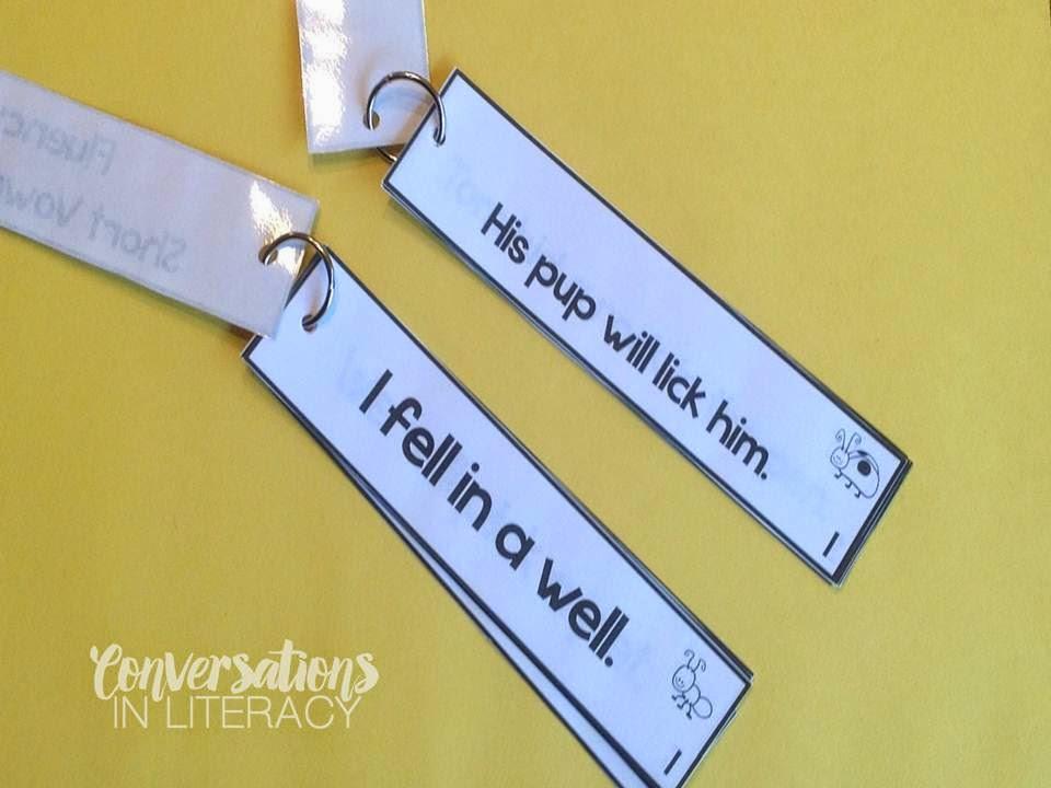 short vowel fluency strips