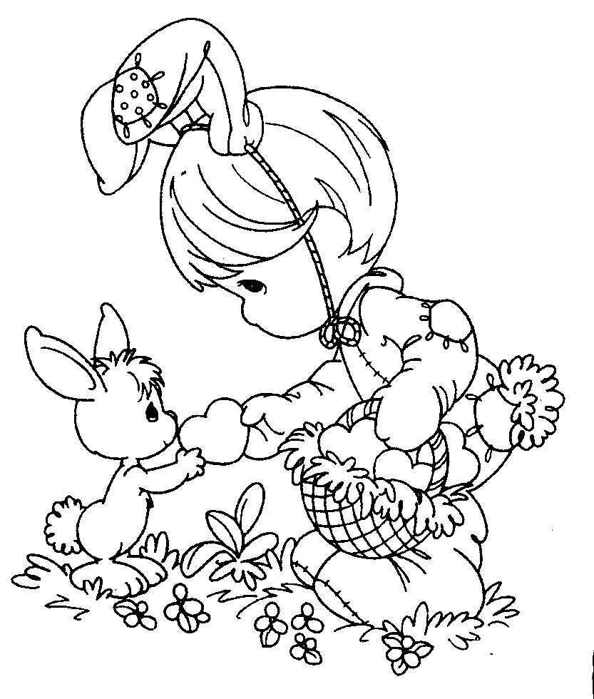 For Kids Easter Coloring Pages