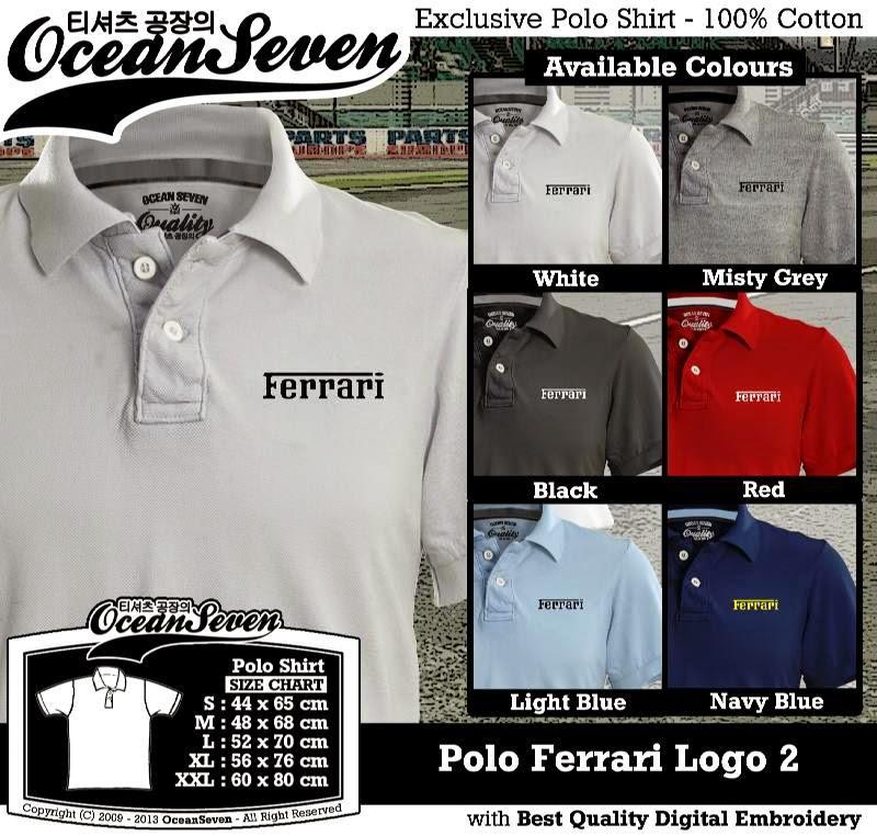 Kaos Polo Ferrari Logo 2