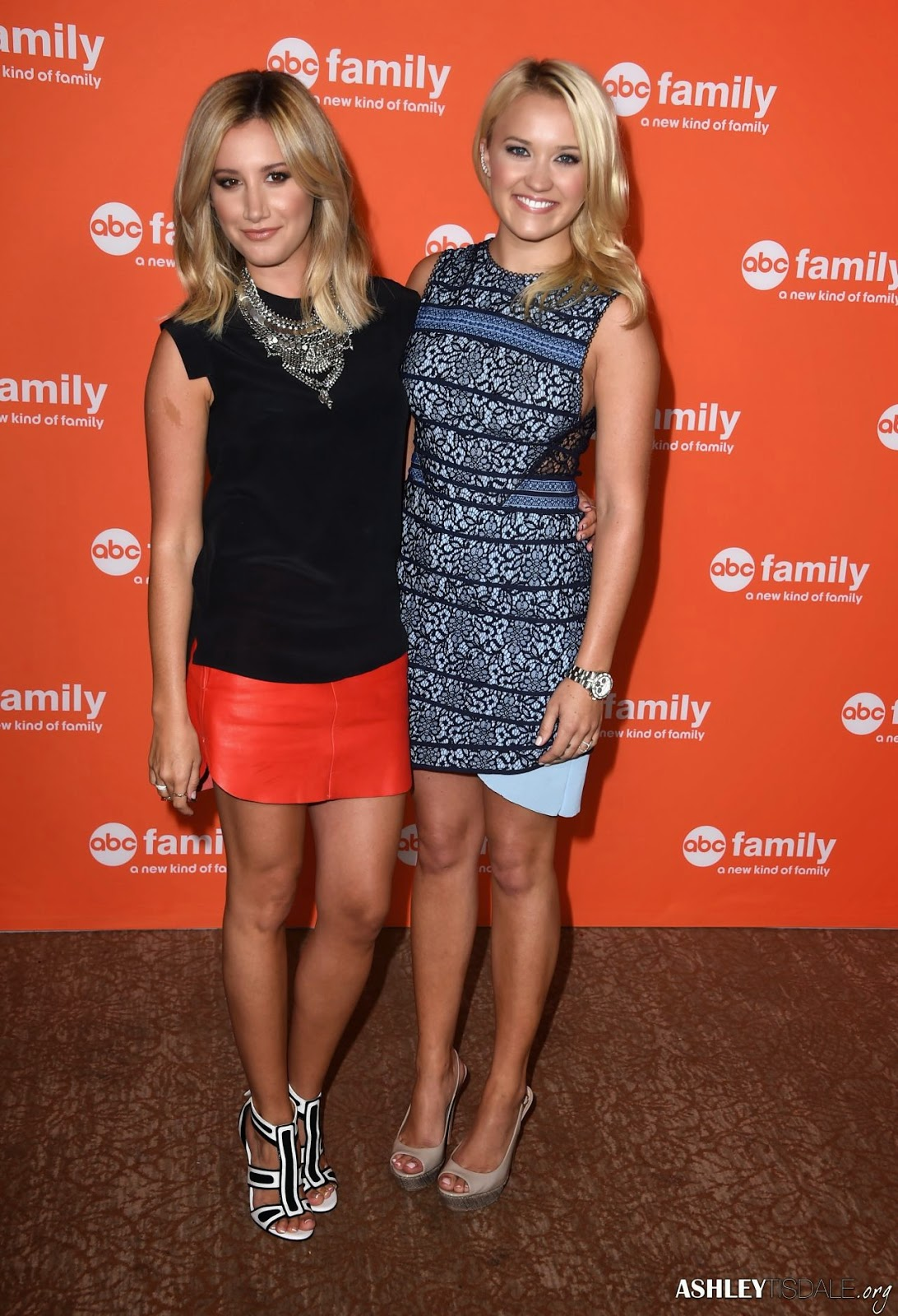 Ashey Tisdale and Emily Osment at the 2014 Television Critics Association Summer Press Tour
