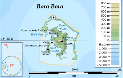 bora bora map resort beach