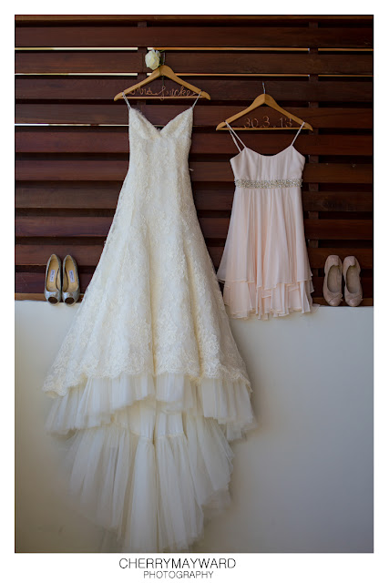 Bride and flower girl's dresses with shoes, Koh Samui, Thailand