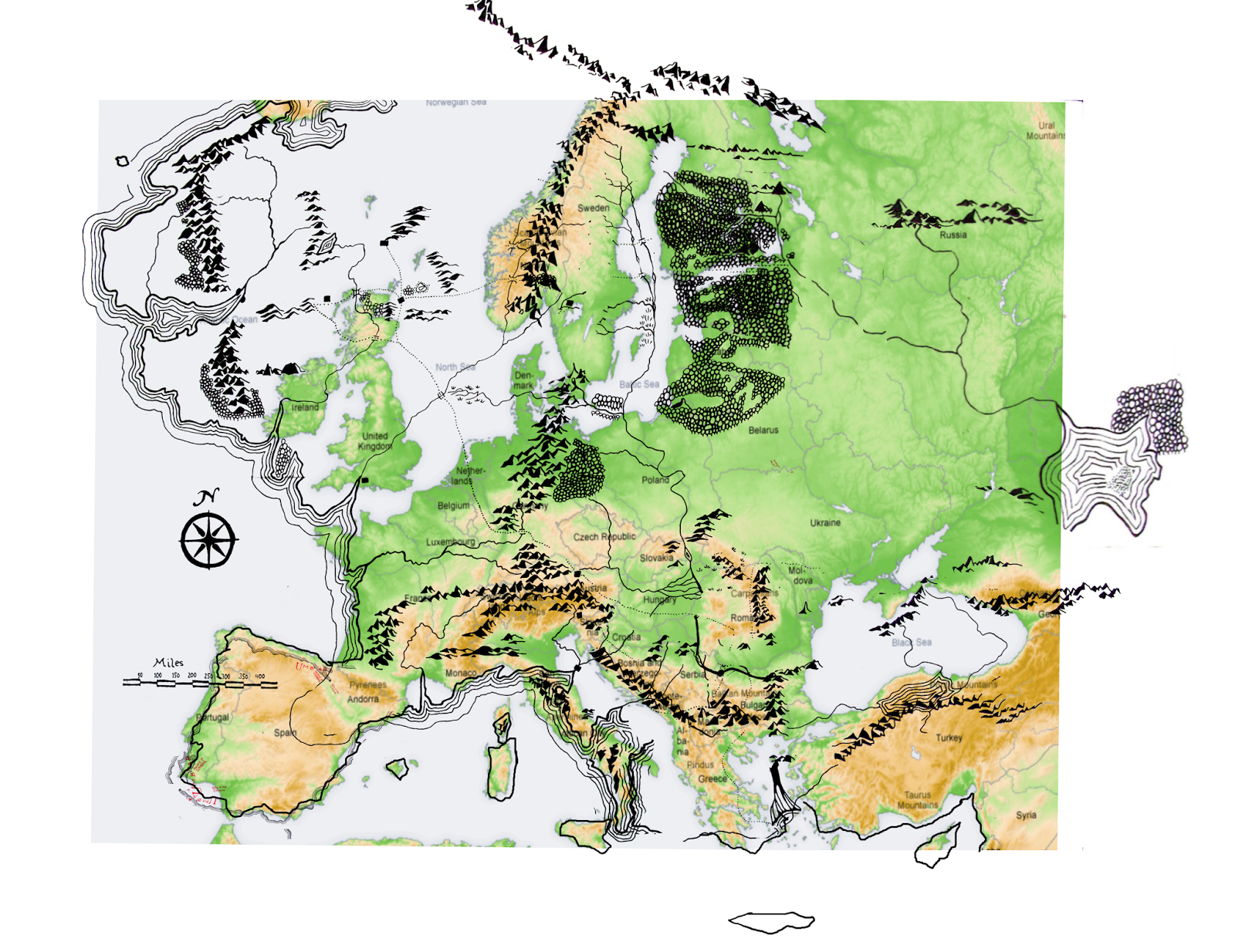 it can be though quite easily shown oh yeah that their size corresponds quite exactly the size of the mountains still missing in the modern european map