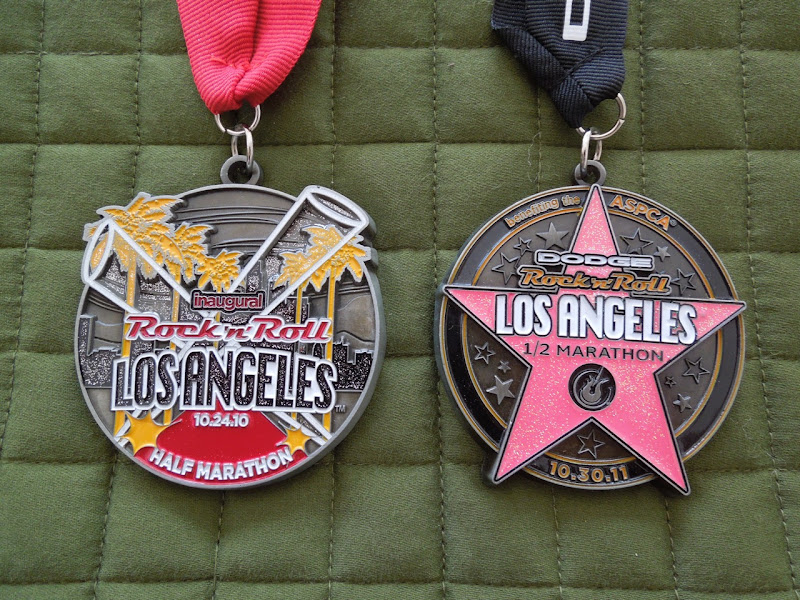 Rock n Roll LA Half Marathon medals