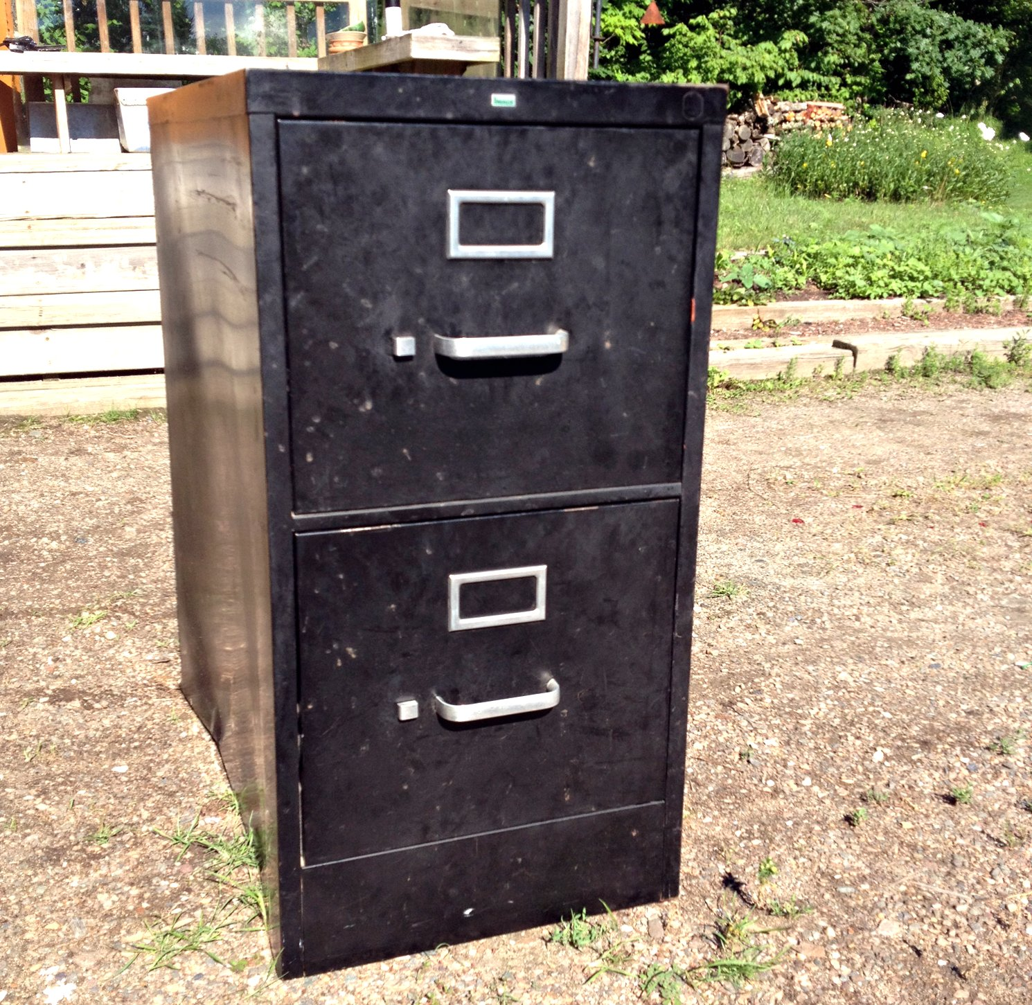 First I Popped Off The Hardware With A Little   Okay A Lot   Of Help From  Mike, And Spray Painted It Black. Then I Gave The Cabinet A Thorough Scrub  Down, ...
