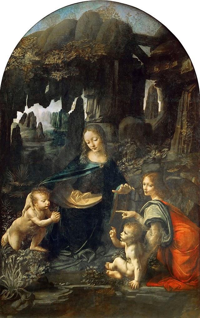 Virgen de las Rocas. Museo del Louvre