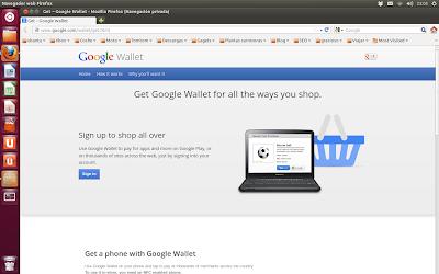 Pantalla bienvenida Google Wallet