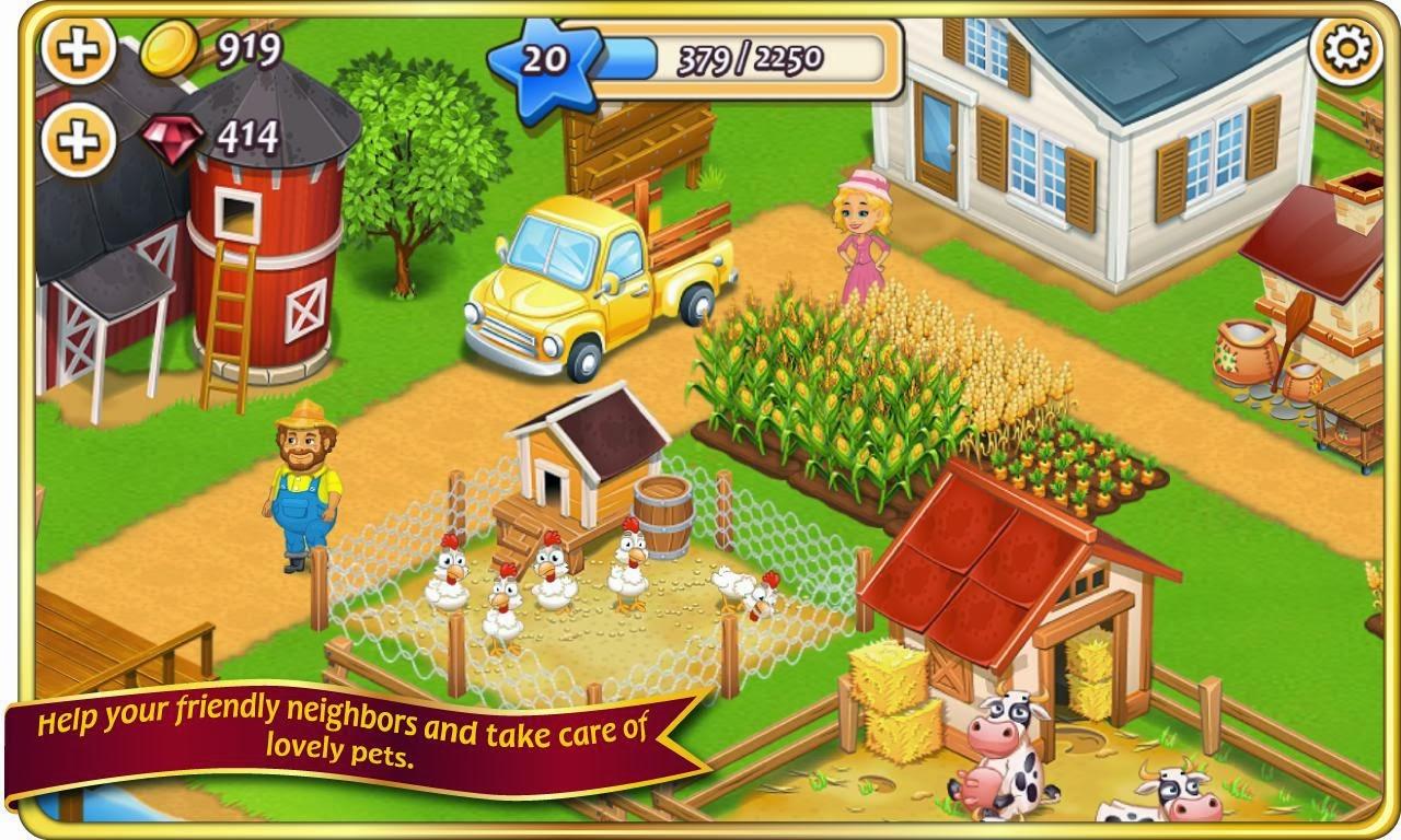 Bedava Android Oyunları!: Farm Town MOD APK v1.33 (1.33