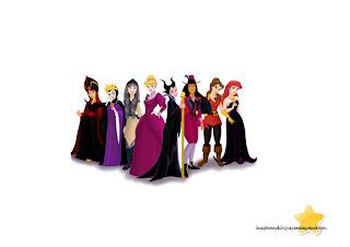 Princesas disney halloween para imprimir