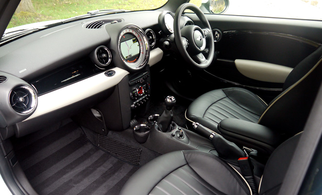 Mini Clubvan front interior view
