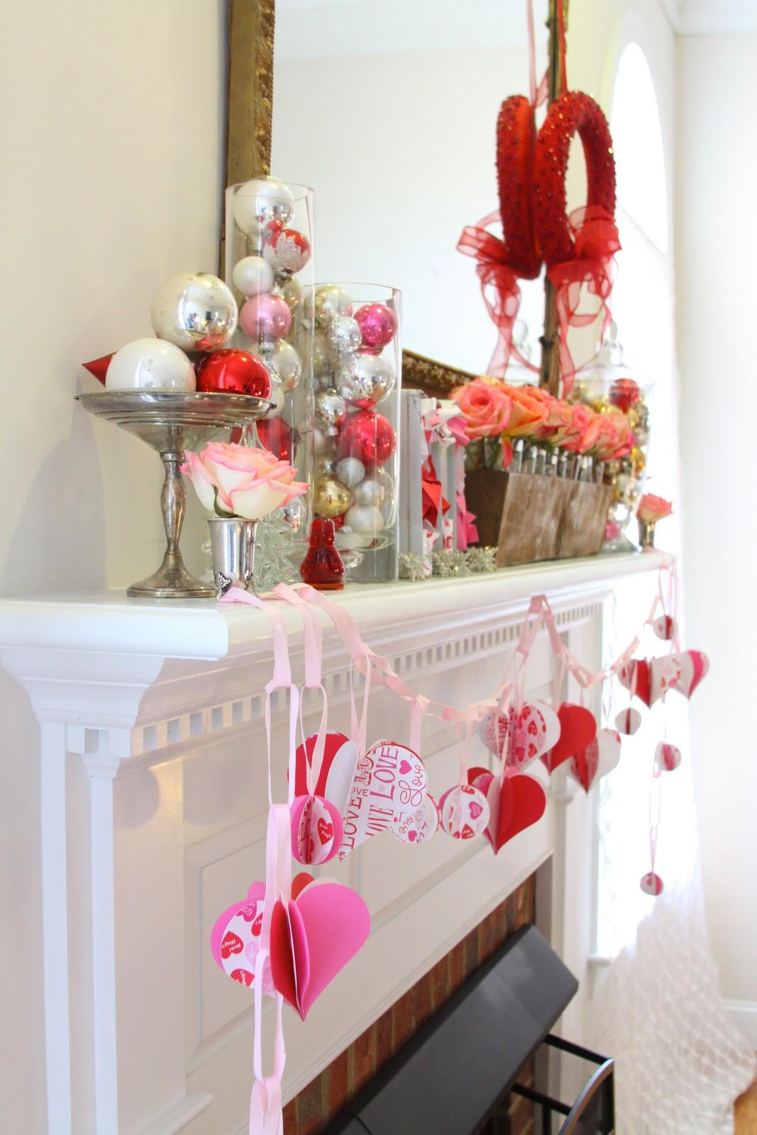 Valentineu0027s Day Mantel