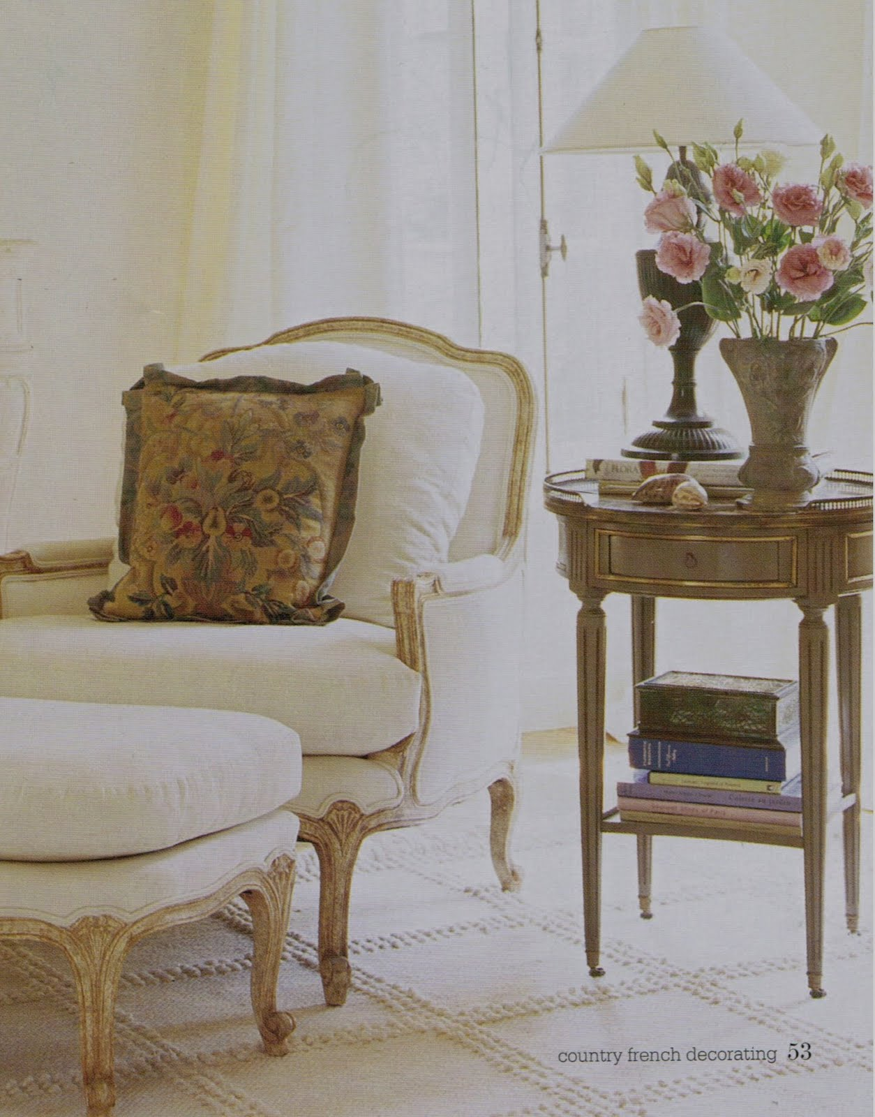 French Mirror And Table