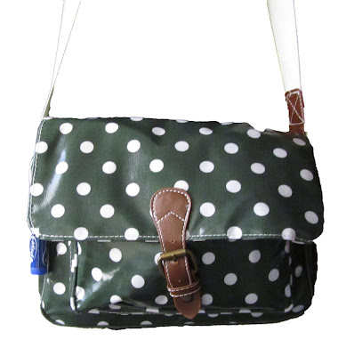 bag, polka dot, satchel, green,