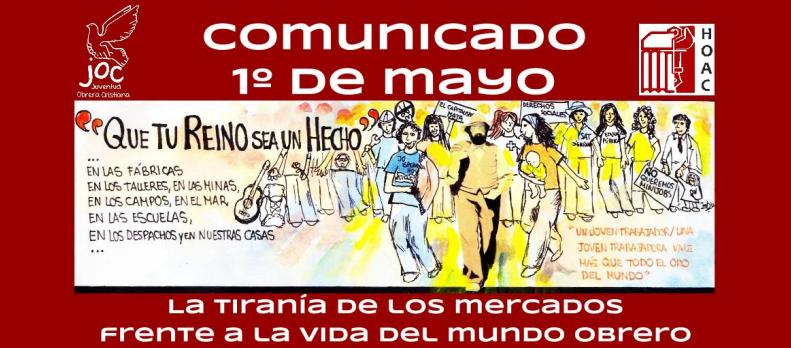 Comunicado de la Hoac y la Joac en el 1º de Mayo - 2014