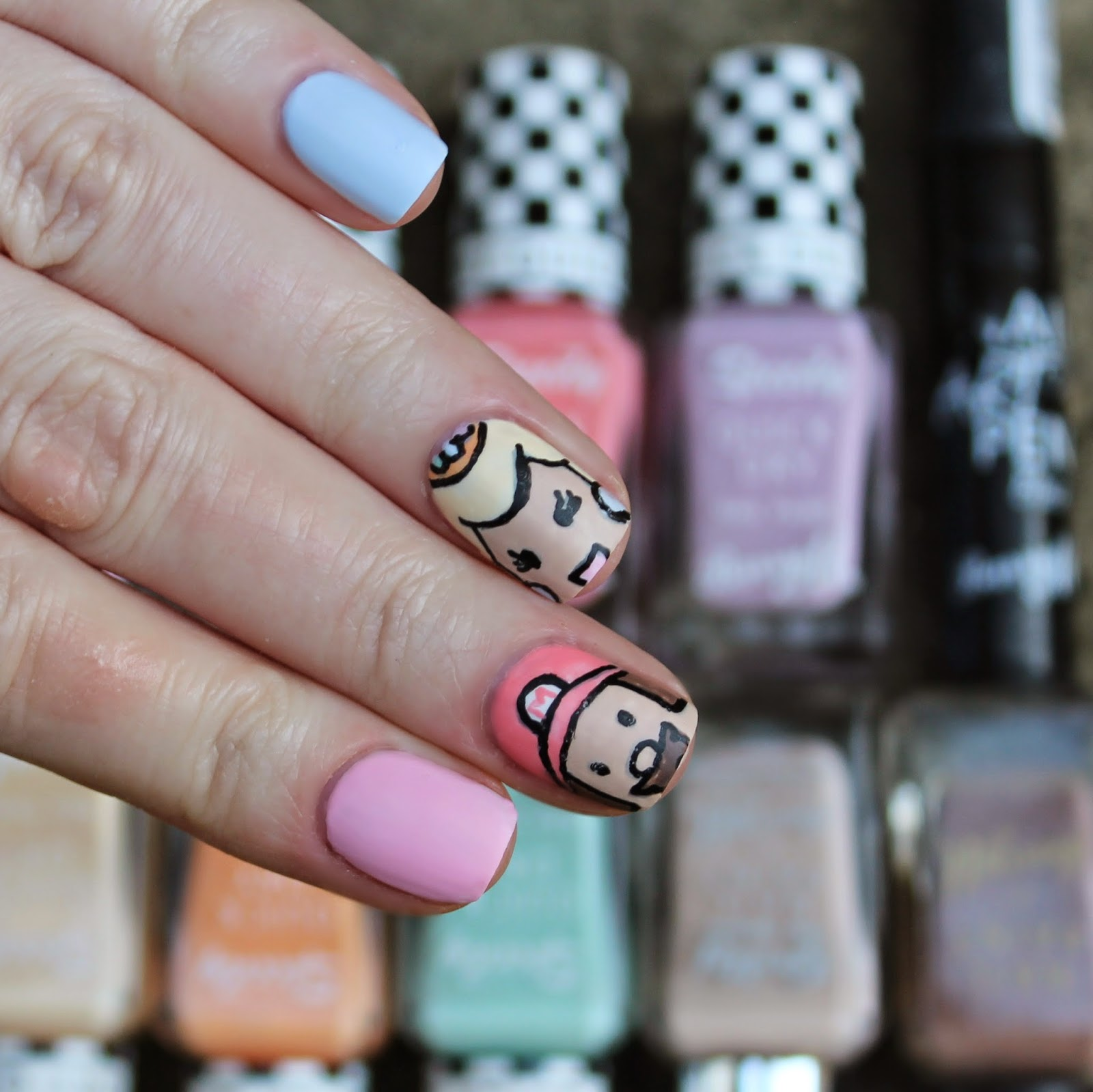 princess peach nail art