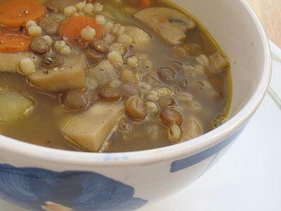 Mushroom, Lentil and Barley Soup