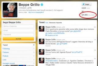 beppe grillo finti followers